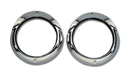 55 1955 CHEVY CAR CHROME HEADLIGHT BEZELS NEW