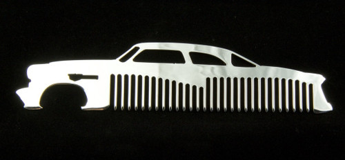 52 53 54 Ford Coupe Polished Stainless Steel Metal Trim Beard Hair Mustache Comb