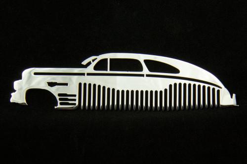 46 47 48 Chevy Fleetline Polished Stainless Steel Metal Trim Beard Hair Mustache Comb