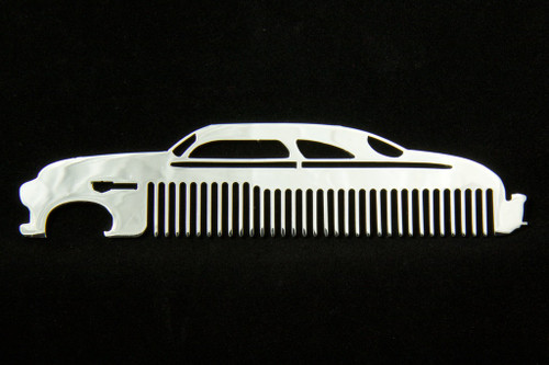 49-51 Mercury Lead Sled Monterey Polished Stainless Steel Metal Beard Hair Mustache Comb