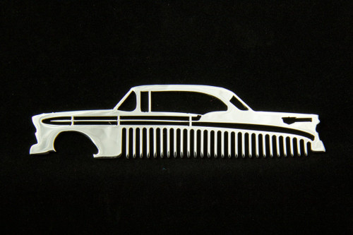 56 1956 Chevy Bel Air Polished Stainless Steel Metal Trim Beard Hair Mustache Comb