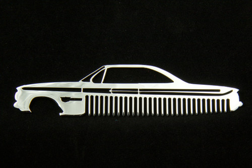 61 Chevy Bel Air Biscayne Impala Polished Stainless Steel Metal Trim Beard Hair Mustache Comb