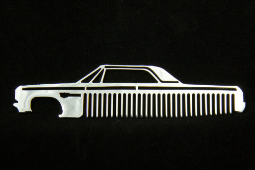 64 Chevy Impala Polished Stainless Steel Metal Trim Beard Hair Mustache Comb