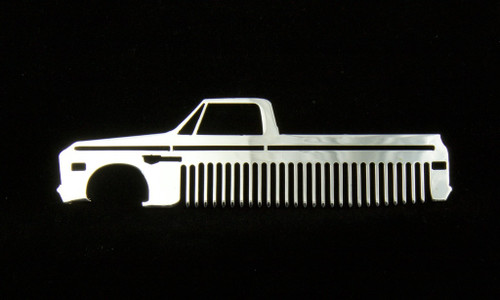 67 68 Chevy Truck Polished Stainless Steel Metal Trim Beard Hair Mustache Comb