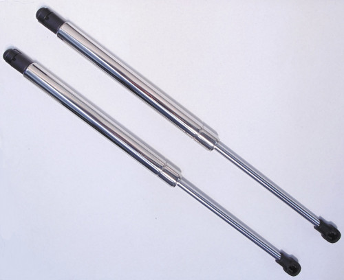 97-04 C5 Corvette Polished Stainless Steel Hood Struts Props Shocks Lift Support