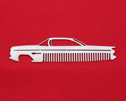 59 Chevy Bel Air Biscayne Impala Brushed Stainless Steel Metal Trim Beard Hair Mustache Comb