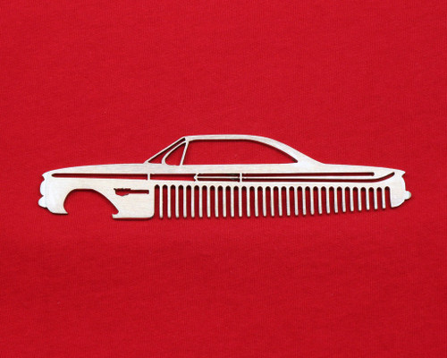 61 Chevy Bel Air Biscayne Impala Brushed Stainless Steel Metal Trim Beard Hair Mustache Comb