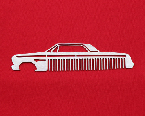 62 Chevy Bel Air Biscayne Impala Brushed Stainless Steel Metal Trim Beard Hair Mustache Comb