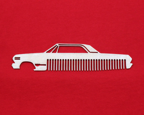 63 Chevy Bel Air Biscayne Impala Brushed Stainless Steel Metal Trim Beard Hair Mustache Comb