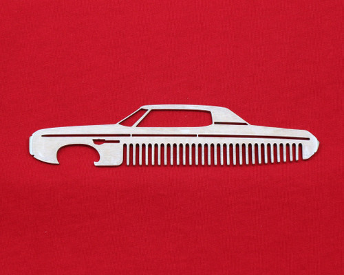 69 Chevy Impala Brushed Stainless Steel Metal Trim Beard Hair Mustache Comb