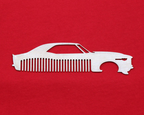 67 68 Chevy Camaro Brushed Stainless Steel Metal Trim Beard Hair Mustache Comb