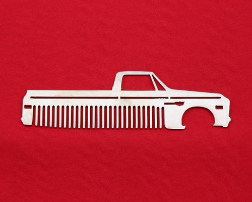 67 68 Chevy Truck Brushed Stainless Steel Metal Trim Beard Hair Mustache Comb