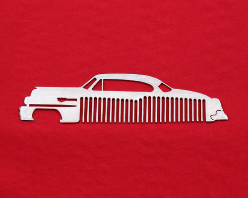 50-54 Cadillac Coupe Deville Brushed Stainless Steel Trim Beard Hair Mustache Comb
