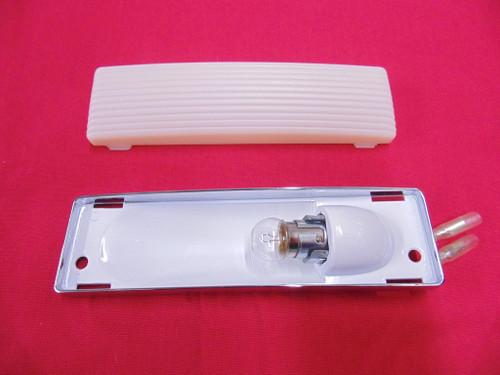 63 - 73 Chevy Corvette Dome Light Chrome Assembly With Lens & Bulb Socket
