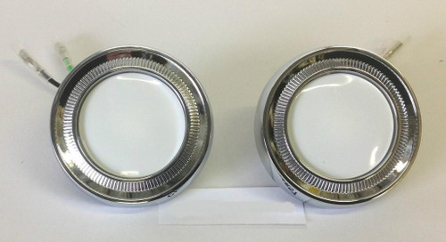 62 63 64 65 66 Chevy Impala Chrome Dome Light Lens Assemblies New Pair