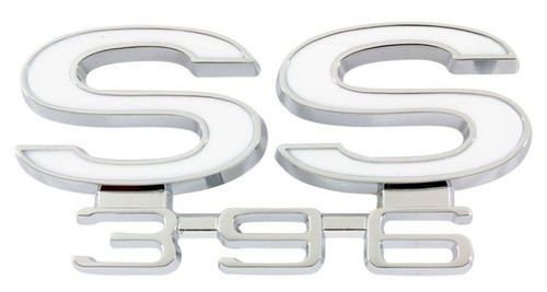 66 1966 CHEVELLE SS 396 REAR PANEL TRUNK EMBLEM NEW