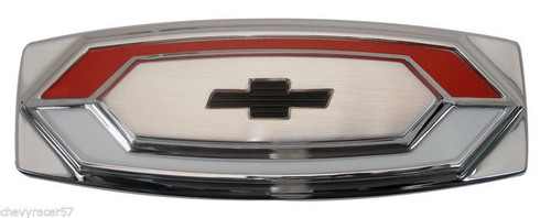 67 1967 CHEVY EL CAMINO REAR TAILGATE TAIL GATE CHROME EMBLEM NEW