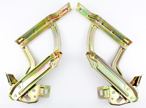 62 1962 Chevy Chevrolet Impala Bel Air Biscayne Steel Hood Hinges Pair