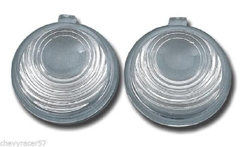 55 56 1955 1956 Chevy License Light Lens Pair