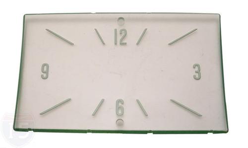 57 1957 CHEVY DASH CLOCK FACE INSERT HAMILTON 2 HOLES