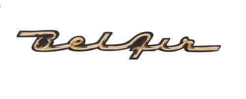 57 1957 Chevy Chevrolet Belair Bel Air Dash Trim Script
