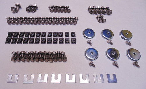 65 66 67 68-70 Chevy Impala Stainless Front End Hood Fender Sheetmetal Bolt Kit