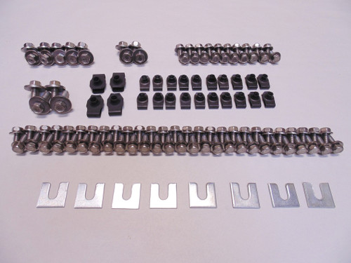 73-80 Chevy Truck & Blazer Stainless Front End Hood Fender Sheetmetal Bolt Kit