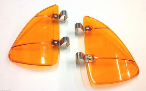 58 59 60 61 62 63 64 65 66 67 68 Chevy Impala Vent Window Amber Orange Breezies