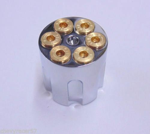 Chrome Gun Barrel Radio Wiper Headlight Switch Dash Knob Hot Rat Rod Big Rig