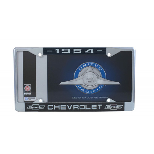 54 1954 CHEVY CHEVROLET CAR & TRUCK CHROME LICENSE PLATE FRAME