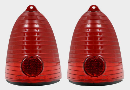 55 1955 CHEVY REAR TAIL LIGHT TAILLIGHT BRAKE LENS LENSES PAIR