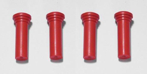 55 56 57 58 59 60 CHEVY SET OF 4 DOOR LOCK KNOBS RED