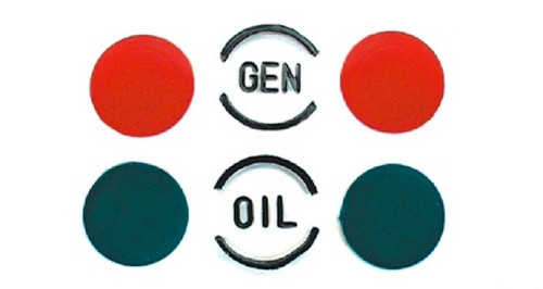 57 1957 Chevy Dash Indicator Recoloring Lenses Color Inserts