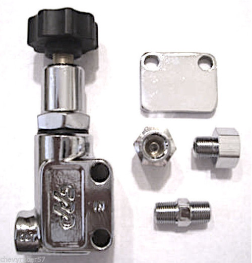 CPP Chrome Disc Brake Adjustable Proportioning Valve For Wilwood Baer SSBC