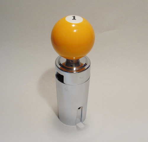 Yellow 1 Pool Ball Shift Knob Kit 13 15 18 Eaton Fuller Peterbilt Freightliner