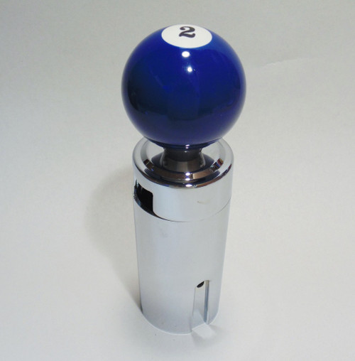Blue 2 Pool Ball Shift Knob Kit 13 15 18 Eaton Fuller Peterbilt Freightliner Two