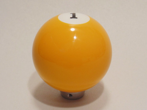 Yellow 1 Pool Ball Gear Shifter Handle Shift Knob Column Floor Hot Rat Rod Truck