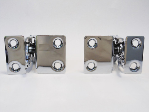 55 56 57 Chevy Nomad & Station Wagon Chrome Lower Tail Gate Latch Latches Pair
