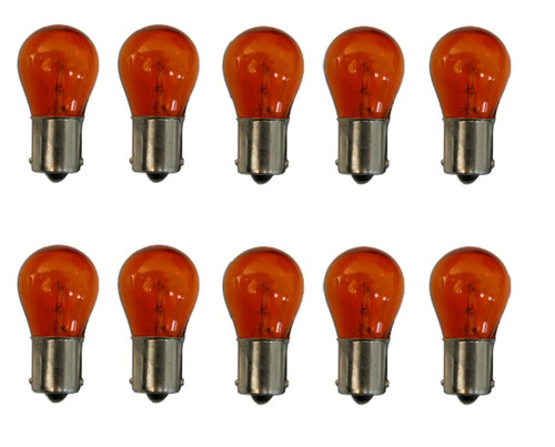 1156Na Amber Park Parking Back Up Tail Light Signal Lamps Bulbs Box Of 10 12V