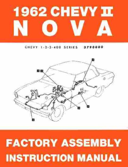 62 Chevy Impala Electrical Wiring Diagram Manual 1962