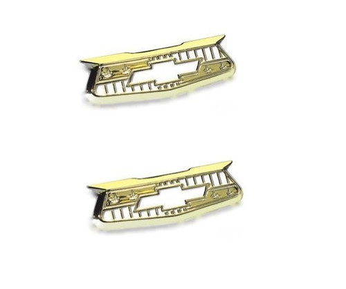 55 56 57 Chevy Quarter Panel Gold Crest Emblems New 1955 1956 1957