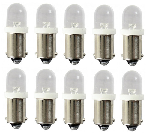 (10) 55-65 Chevy Led Dash Instrument Panel Cluster Gauges Glove Box Light Bulbs