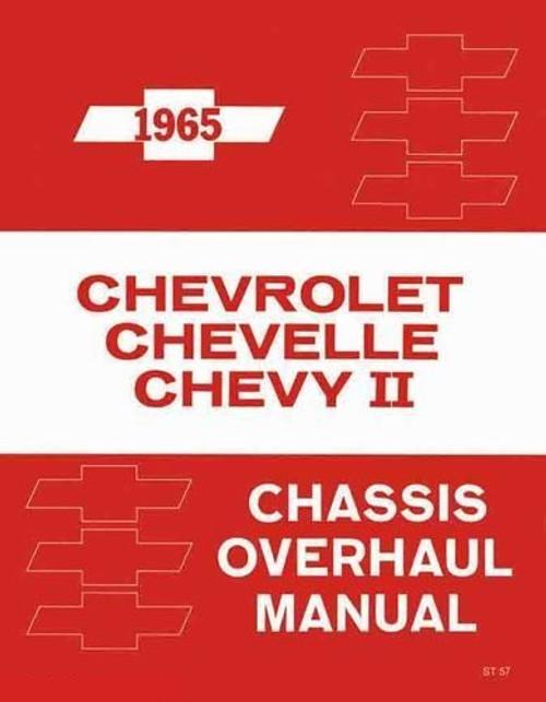 65 1965 CHEVY IMPALA CHEVELLE NOVA CHASSIS OVERHAUL SHOP MANUAL GUIDE BOOK