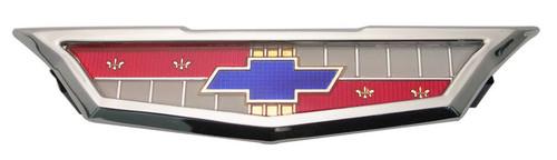 61 Chevy Impala Bel Air Biscayne 6 Cylinder Chrome Rear Trunk Emblem Assembly