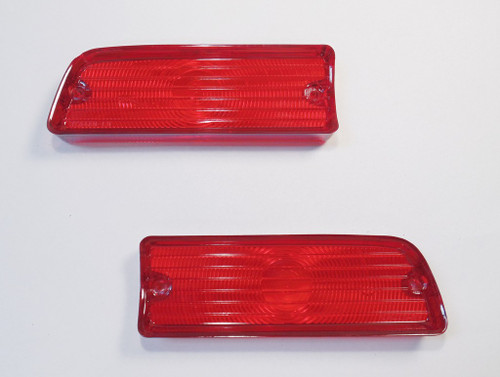 1964 64 Chevelle Rear Tail Light Red Lens Lenses Pair New