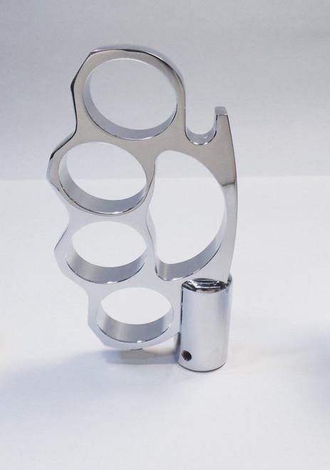 Chrome Aluminum KNUCKLES Shifter Handle Knob Column & Floor Shift Hot Rat Rod