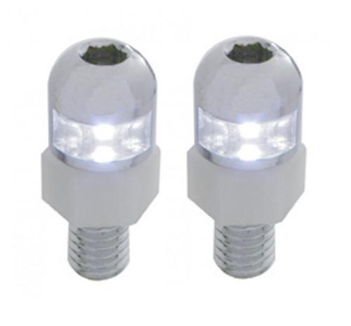 White LED Light Interior Dashboard Console License Plate Frame Fastener Screws
