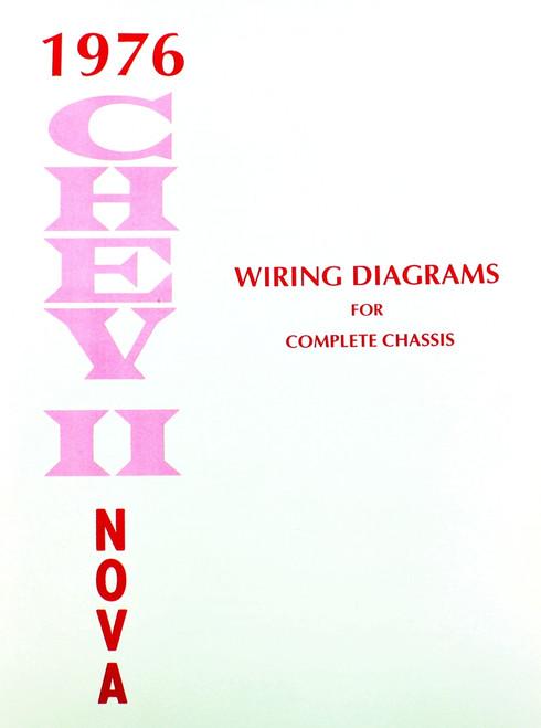 76 Chevy Chevrolet Nova Electrical Wiring Diagram Manual 1976 I - 1976 Chevy Nova Wiring Diagram