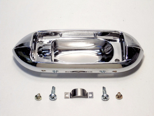 64 65 66 67 Chevy El Camino Dome Light Lens Chrome Bezel Base Housing