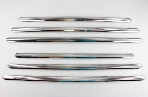 41 42 46 47 48 Chevrolet Fleetline Fender Skirt Stainless Trim Moldings Set of 6